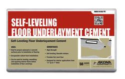 Akona® Self-Leveling Floor Underlayment Cement