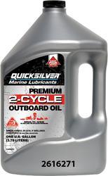 Mercury Quicksilver Premium 2-Cycle Outboard Oil (1 Gallon)