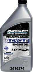 Mercury Quicksilver 25W40 Marine Oil (32 oz.)
