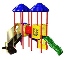 UPlay Today Chimney Tops (Natural) Commercial Playset with Ground Spike