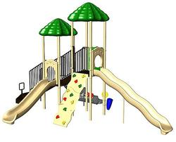 UPlay Today Aiden's Pass (Natural) Commercial Playset with Ground Spike