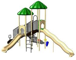 UPlay Today Boulder Point (Playful) Commercial Playset with Ground Spike