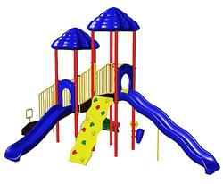 UltraPlay UP & UP Double Deck Playsystem with Vine Climber and Deluxe Climbing Wall