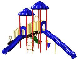 UltraPlay UP & UP Double Deck Playsystem with Vine Climber and Standard Climbing Wall