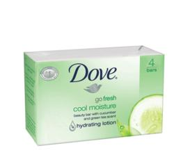 Dove Beauty Bar Soap, Cool Moisture, 4ct
