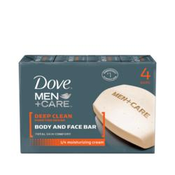 Dove Men Bar Soap, Deep Clean 4ct