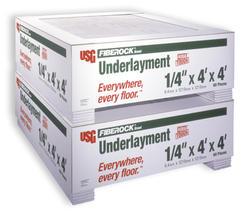 """FIBEROCK Aqua-Tough 1/4"""" x 4' x 4' Underlayment"""