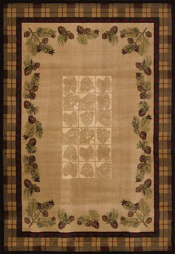 United Weavers Ashland Collection Fall Pine Cones Area Rug