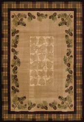 "United Weavers Ashland Collection Fall Pine Cones Area Rug 5'3"" x 7'6"""