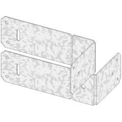 """USP Structural Connectors 4"""" x 2"""" Modified Floor Truss Clip (Double)"""