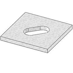 "USP Structural Connectors 3"" x 3"" Bearing Plate (1/2"" Bolt Diameter)"