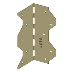"""USP Structural Connectors 2-1/4"""" x 2-1/4"""" x 6-7/8"""" Gold Coat Multipurpose Framing Angle"""