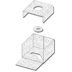 "USP Structural Connectors 4"" x 4"" 4-Sided Triple Zinc Post Anchor"