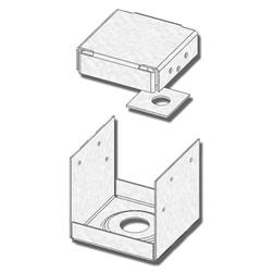 "USP Structural Connectors 4"" x 4"" 2-Sided Triple Zinc Post Anchor"