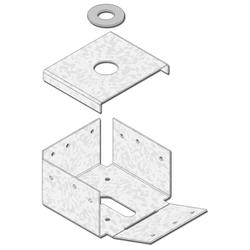 "USP Structural Connectors 4"" x 4"" Rough 4-Sided Post Anchor"