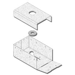 "USP Structural Connectors 4"" x 6"" Post Anchor 4-Sided with Display Box"