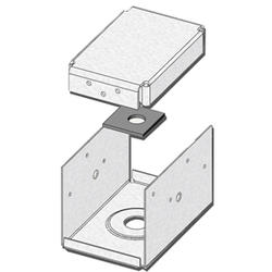 "USP Structural Connectors 4"" x 6"" Triple Zinc 2-Sided Post Anchor"