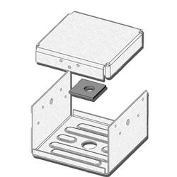 """USP Structural Connectors 6"""" x 6"""" with Display Box 2-Sided Post Anchor"""