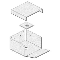 """USP Structural Connectors 6"""" x 6"""" with Display Box 4-Sided Post Anchor"""