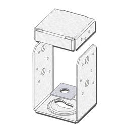 """USP Structural Connectors 4"""" x 6"""" Triple Zinc 2-Sided High Uplift Post Anchor"""