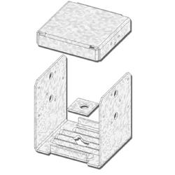 """USP Structural Connectors 8"""" x 8"""" 2-Sided High Uplift Post Anchor"""
