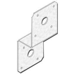 """USP Structural Connectors 4"""" x 4"""" Triple Zinc 2x Joist Deck Post Tie"""