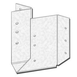 "USP Structural Connectors 2"" x 6-8"" Triple Zinc Skewed Left 45 Degree Hanger"