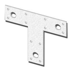 """USP Structural Connectors 1-1/2"""" x 5"""" x 6"""" Triple Zinc T-Strap"""