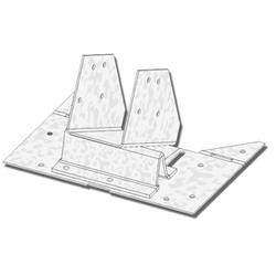 """USP Structural Connectors 2"""" or 2-1/8"""" Rafter Width Adjustable Rafter-to-Plate Connector"""
