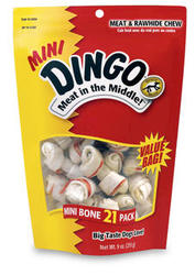 Dingo Mini Meat & Rawhide Chew Bones - 21-pk