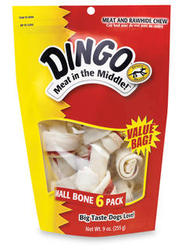Dingo Small Meat & Rawhide Chew Bones - 6-pk