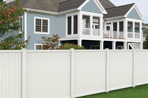 6 X 6 White Vinyl Belmont Privacy Fence Panel At Menards 174