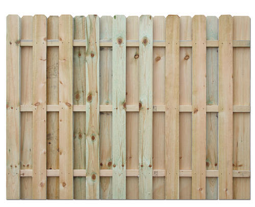 6' H X 8' W Shadow Box AC2 Treated Fence Panel At Menards®