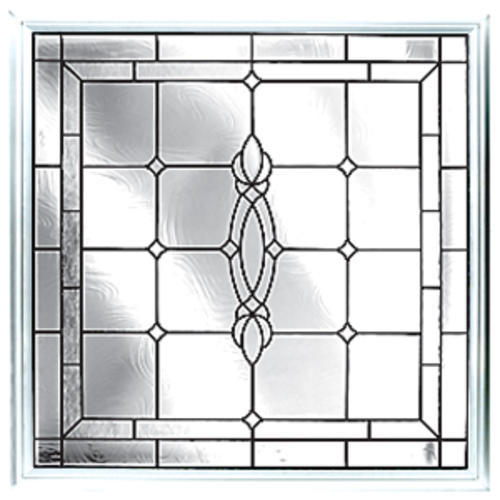 Hy Lite 48 X 48 Satin Nickel Leaded Beveled Picture