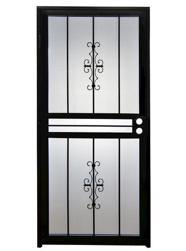 Tru Bolt 501 36 Quot X 80 Quot Black Steel Prehung Security Door