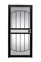 Tru-Bolt® 502 Arch Series 32 in. x 80 in. Black Steel Prehung Security Storm/Screen Door