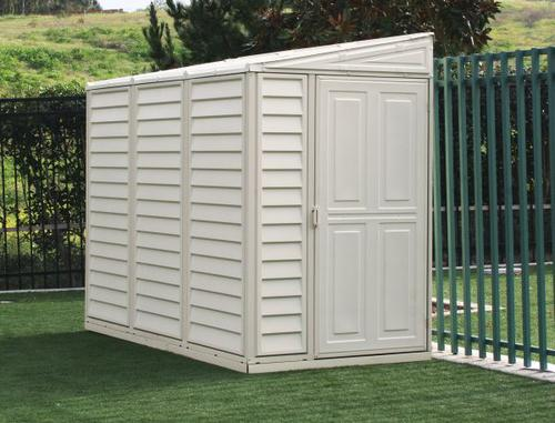 Duramax sidemate 4 39 x 8 39 vinyl storage building with for Garden shed kits menards