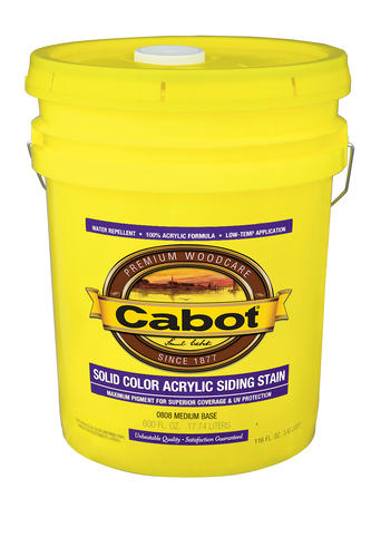 Cabot Medium Base Solid Color Acrylic Siding Stain 5 Gal