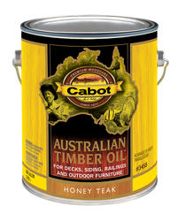 Cabot Honey Teak Australian Timber Oil Wood Stain - 1 gal.