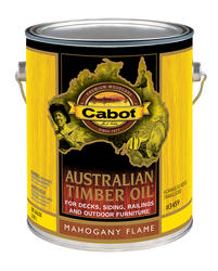 Cabot Mahogany Flame Australian Timber Oil Wood Stain - 1 gal.
