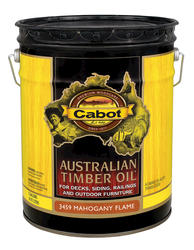 Cabot Mahogany Flame Australian Timber Oil Wood Stain - 5 gal.