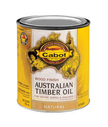 Cabot Natural Low-VOC Australian Timber Oil Wood Stain - 1 qt