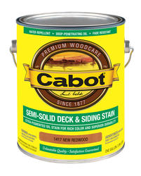 Cabot New Redwood Semi-Solid Deck & Siding Stain - 1 gal.