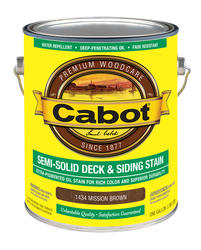Cabot Mission Brown Semi-Solid Deck & Siding Stain - 1 gal.