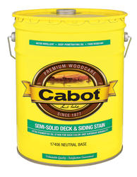 Cabot Neutral Base Low-VOC Semi-Solid Deck & Siding Stain - 5 gal.