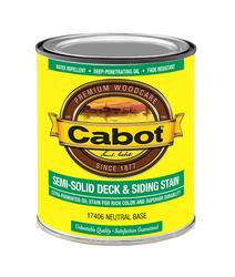Cabot Neutral Base Low-VOC Semi-Solid Deck & Siding Stain - 1 qt