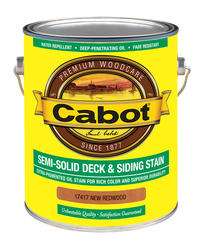 Cabot New Redwood Low-VOC Semi-Solid Deck & Siding Stain - 1 gal.
