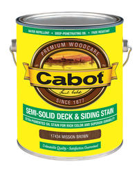 Cabot Mission Brown Low-VOC Semi-Solid Deck & Siding Stain - 1 gal.