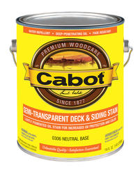 Cabot Neutral Base Semi-Transparent Deck & Siding Stain - 1 gal.