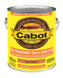 Cabot Redwood Semi-Transparent Deck & Siding Stain - 1 gal.